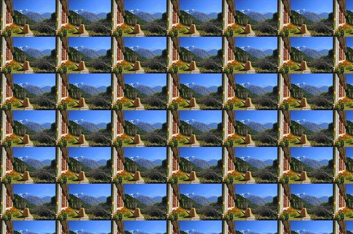 Vinylová Tapeta Nepálský vesnice a Annapurna - Asie