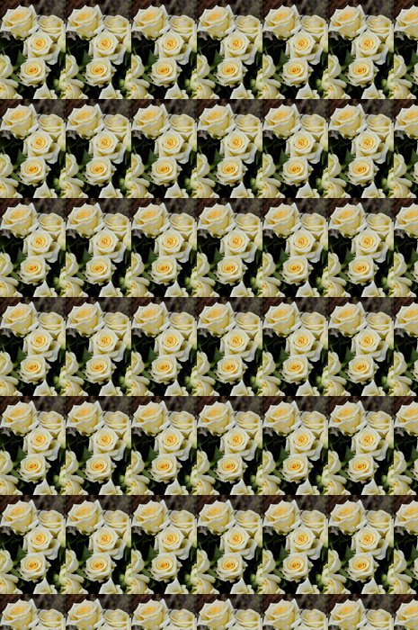 Vinylová Tapeta Kytici bílých růží a žluté - Květiny