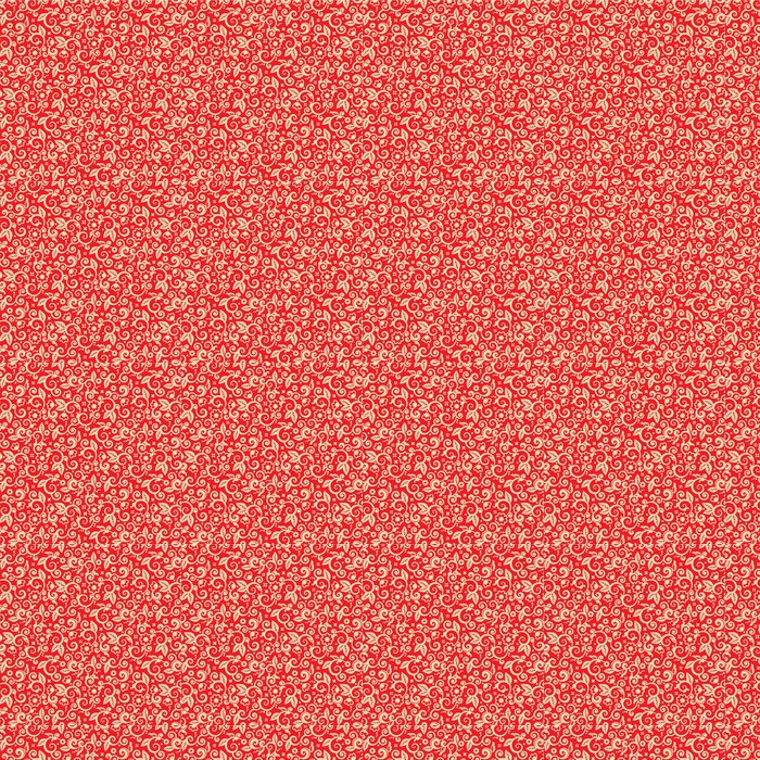 Papier peint à motifs vinyle Rouge et or de Noël, seamless inclus - Fêtes internationales