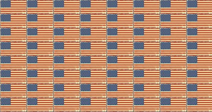 Vinylová Tapeta Americký grunge vlajky. vektorové ilustrace - Témata