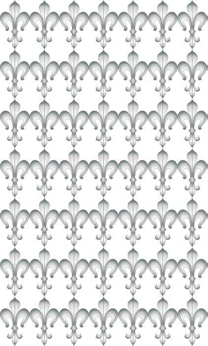 Vinylová Tapeta Stylizovaný květ lil - Značky a symboly