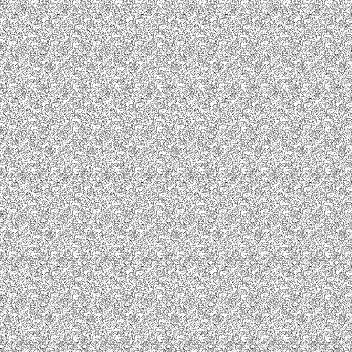 Vinylová Tapeta Květinové pozadí s růží. Vector seamless pattern. - Umění a tvorba