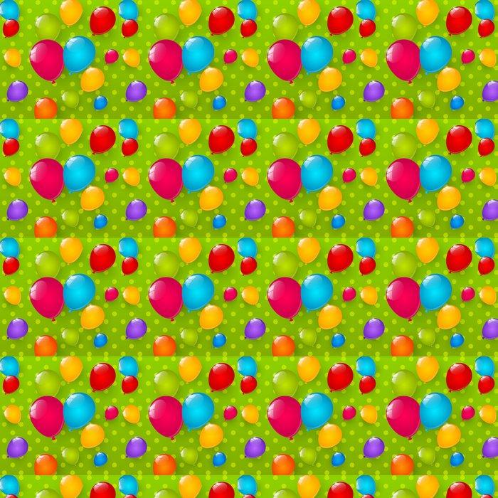 Vinylová Tapeta Narozeniny pozadí s barevnými balónky - Slavnosti
