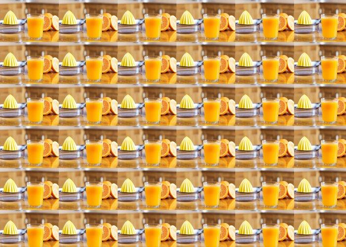 Vinylová Tapeta Čerstvě vymačkaná pomerančová šťáva - Džus