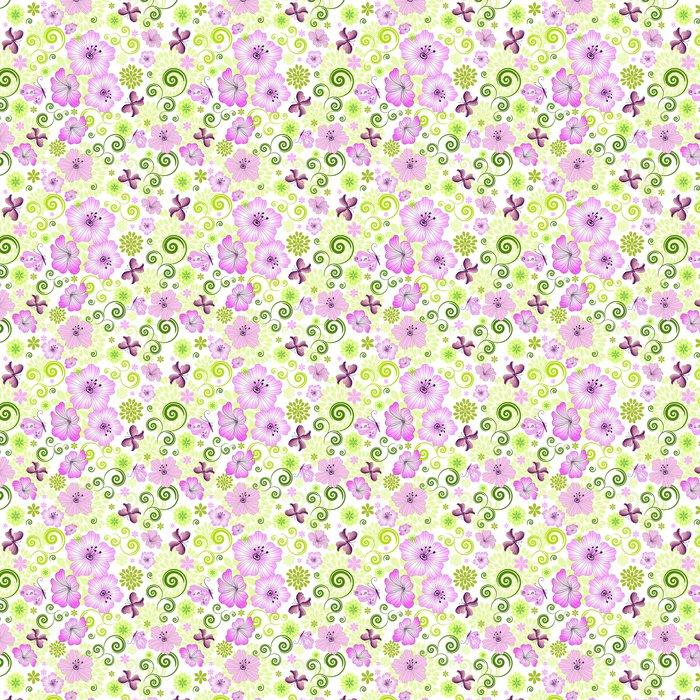 Vinylová Tapeta Jarní opakování bílý květinový vzor - Pozadí