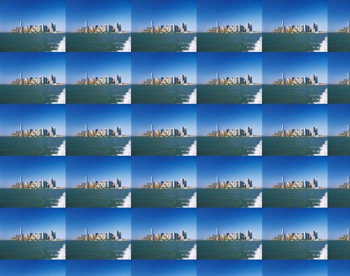 Vinylová Tapeta Manhattan za slunečného dne. - Americká města