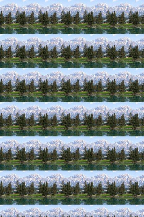 Vinylová Tapeta Dům Lake s krásným výhledem na hory - Mír