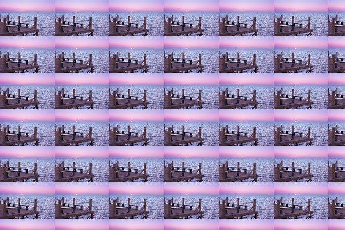 Vinylová Tapeta Východ slunce cesta do nebe - Voda