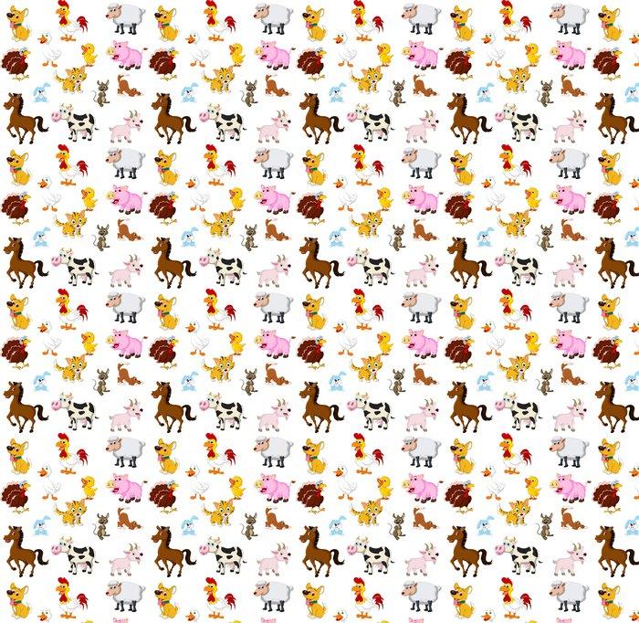 Vinylová Tapeta Funny Farm zvířata sada - Nálepka na stěny