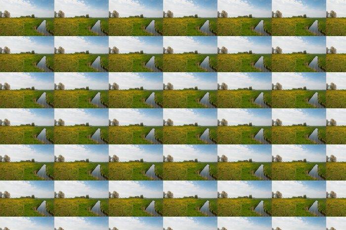 Vinylová Tapeta Typická holandská krajina na jaře - Venkov
