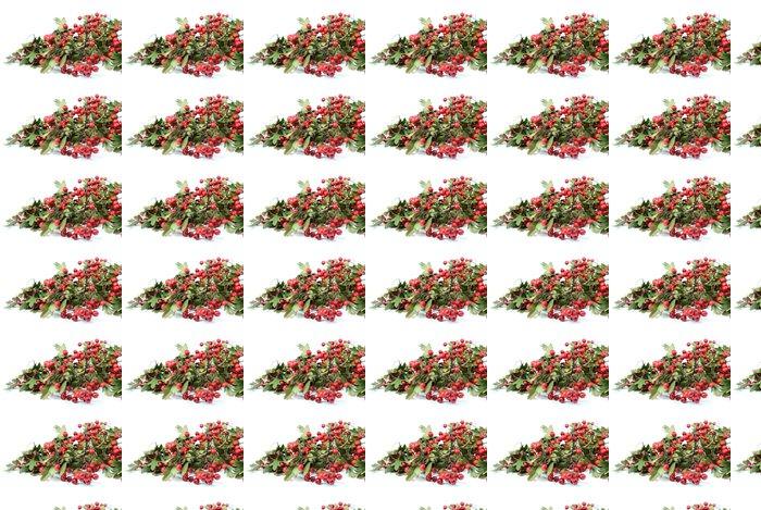 Papel de Parede em Vinil autumn red fruits - hawthorn - Estações