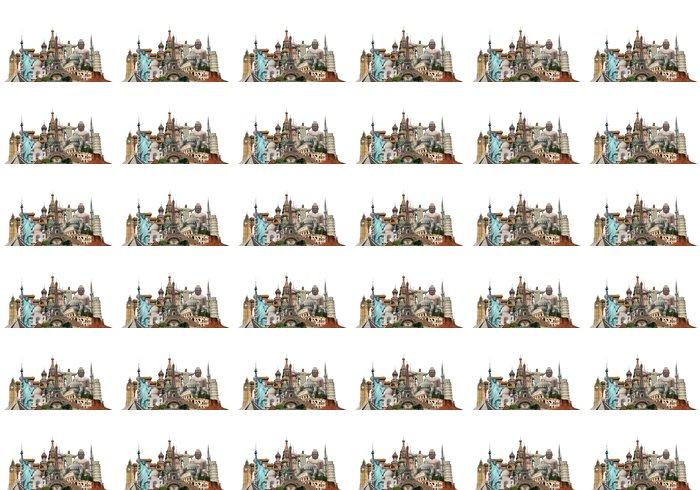 Vinylová Tapeta Cestovat po světě památky koncept - Asijská města