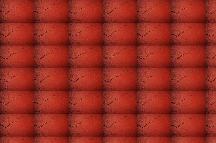 Vinylová Tapeta Popraskané červené zdi - Život