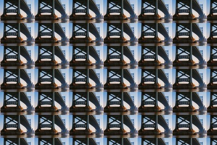 Vinylová Tapeta Pohled na Philadelphie Ben Franklin most - Amerika