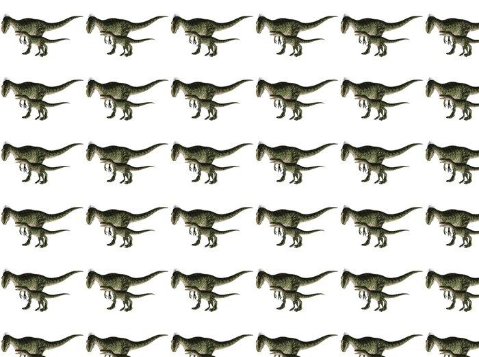 Vinyl Behang Volwassen en jonge Monolophosaurus - Muursticker