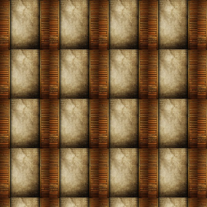 Tapete Buntpapier mit Bambusrahmen • Pixers® - Wir leben, um zu ...