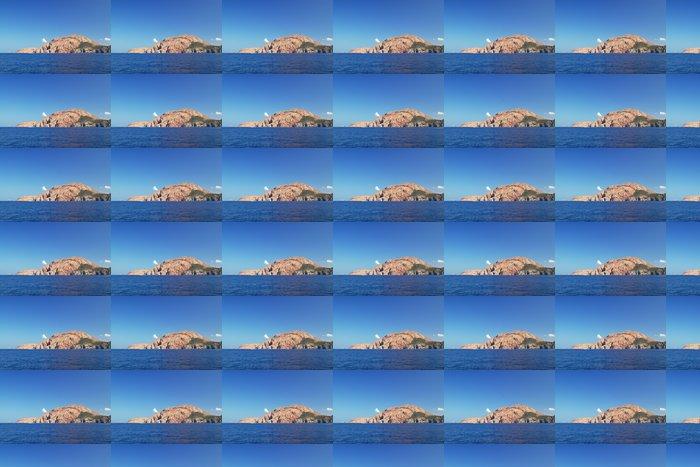 Vinylová Tapeta Orabge útes ostrova Korsika, Francie - Hory