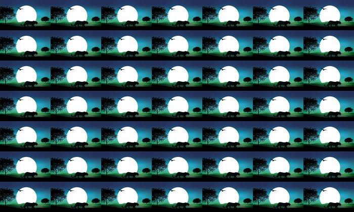 Vinylová Tapeta Vektorové ilustrace Safari - Savci
