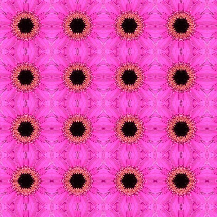 Vinylová Tapeta Pink Mandala Concentric Flower Center Kaleidoscope - Květiny