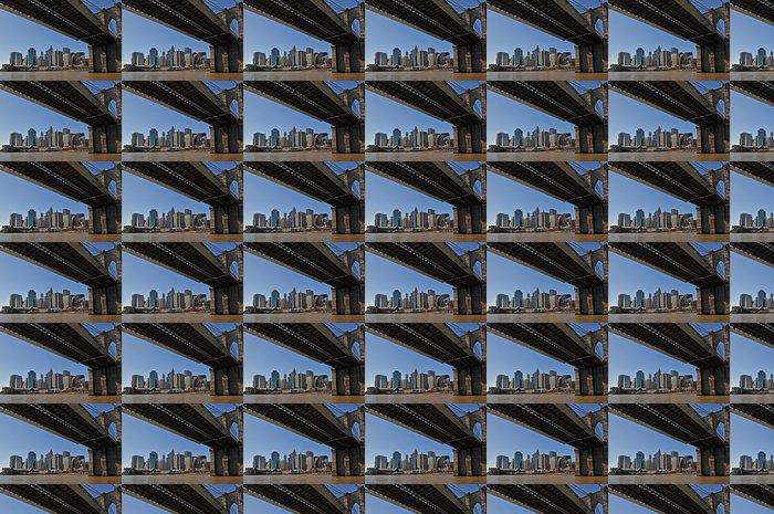 Vinylová Tapeta New York Brooklyn Bridge a Manhattan - Infrastruktura
