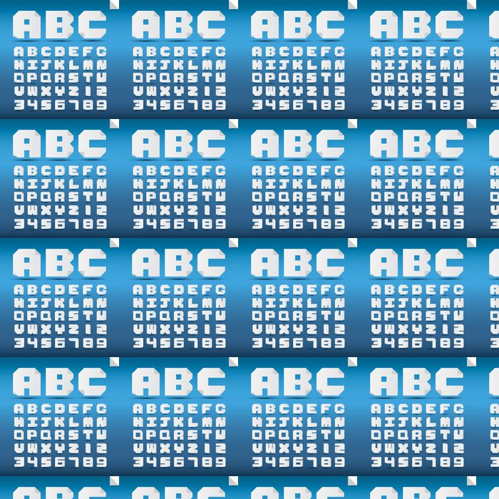 Vinylová Tapeta Origami abecedy a čísla. - Témata