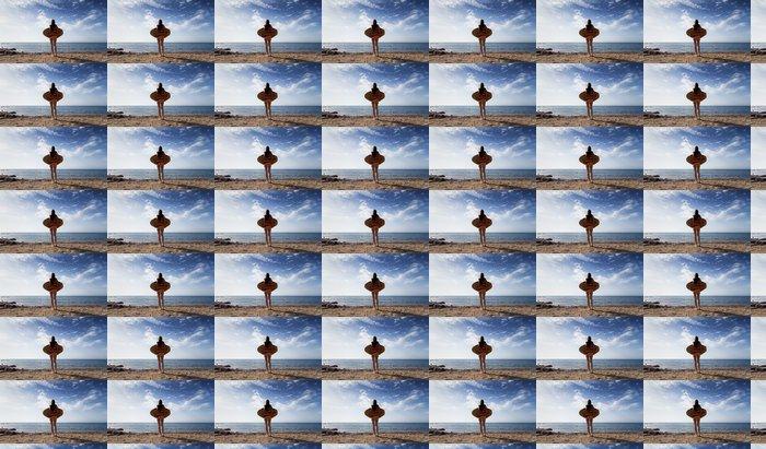 Vinylová Tapeta Dívka s těla surfovací prkno - Prázdniny
