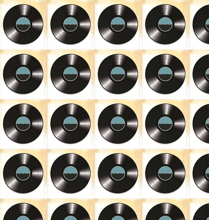 Vinylová Tapeta Vinylové desky - Struktury