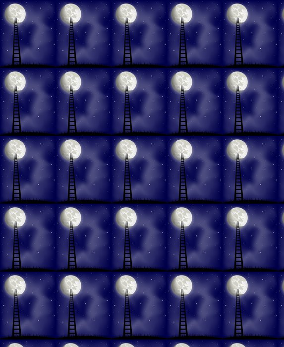 Vinylová Tapeta Ladder na měsíc, vektorové ilustrace - Témata