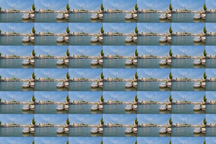 Vinylová Tapeta Pohled na Sena v Paříži - Evropská města