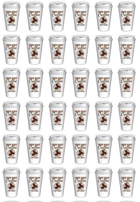 Vinylová Tapeta Coffee To Go šálkem výprava čerstvé pražené kávy - Prodej