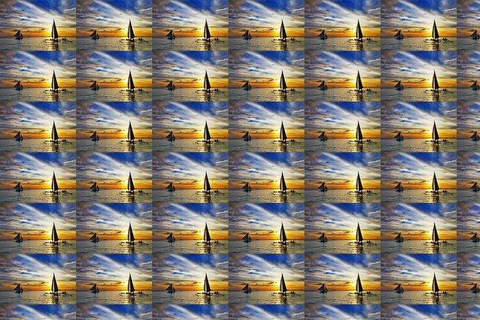 Vinylová Tapeta Plavba na západ slunce. Boracay Island, Filipíny - Témata