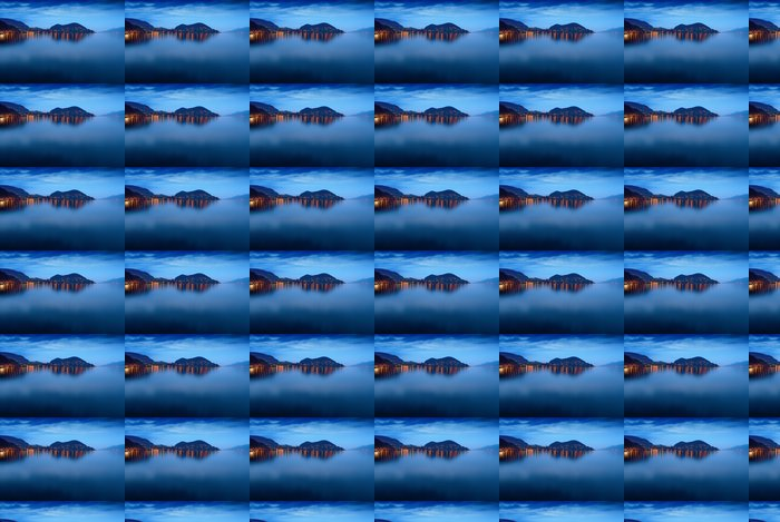 Vinylová Tapeta Lake Thun v noci. - Evropa