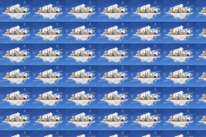 Vinylová Tapeta Cestujte po světě památky mraky koncepce - Prázdniny
