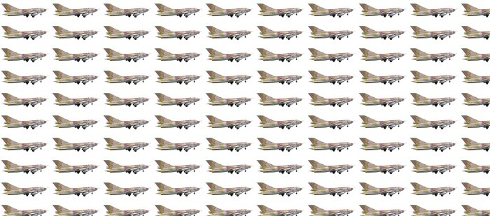 The su-25 plane isolated on a white background Vinyl Wallpaper - Air