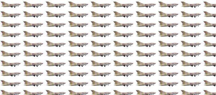 Papier peint à motifs vinyle L'avion Su-25 isolé sur un fond blanc - Dans les airs