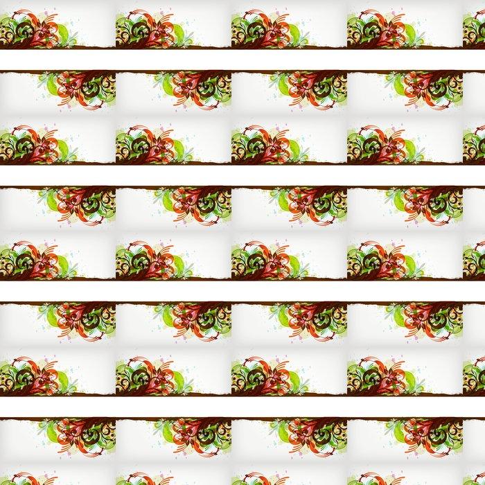 Vinylová Tapeta Květinový rám - Struktury