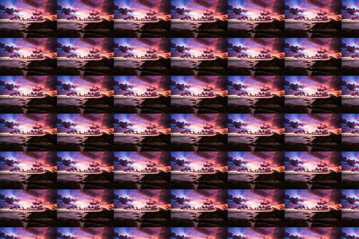 Vinylová Tapeta Tropické slunce na skalách - Nebe