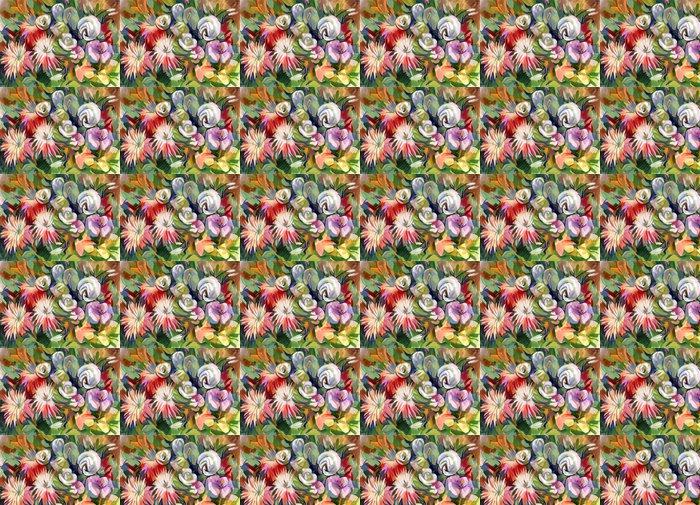 Vinylová Tapeta Zátiší kytice květin. Ručně kreslená v kvaš - Umění a tvorba