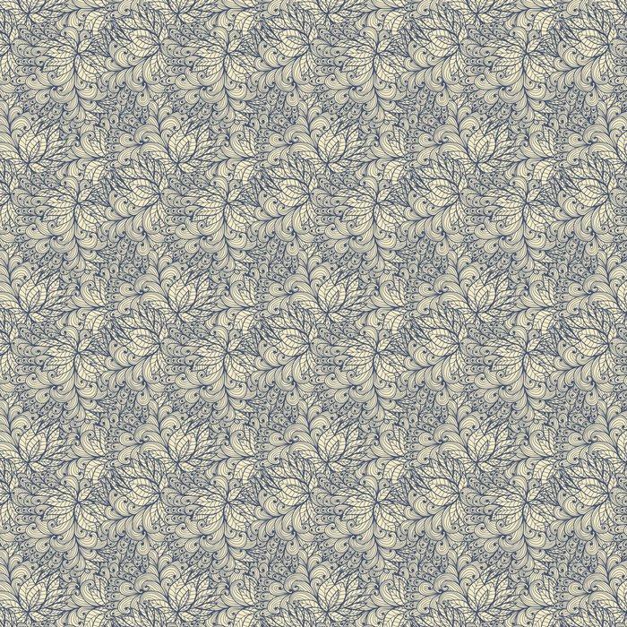 Vinylová Tapeta Bezešvé modrá doodle vzor spirály a spirály - Jiné pocity