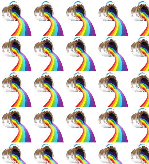 Vinylová Tapeta Barva se sype z plechovky. Duha. 3d render - Nálepka na stěny