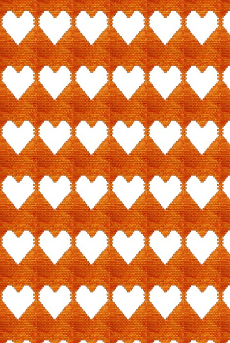Vinylová Tapeta Cihlová zeď s tvaru srdce - Pozadí