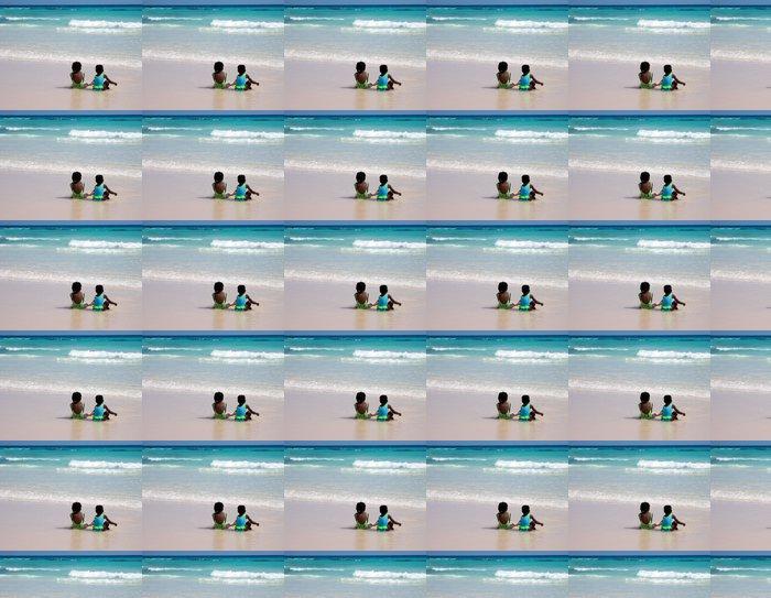 Vinylová Tapeta Dvě dívky na pláži ve městě Bridgetown, Barbados - Prázdniny