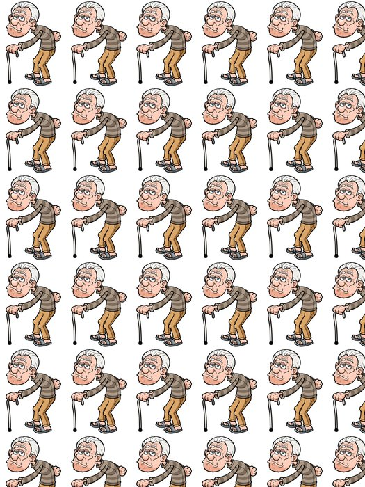 Vinylová Tapeta Vektorové ilustrace Cartoon starého muže - Rodinný život
