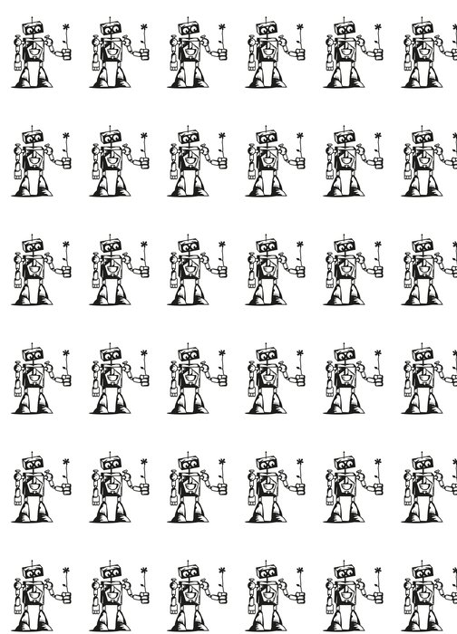 Vinylová Tapeta Roboter mit Blume - Elektronika