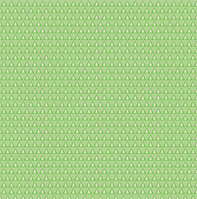 Seamless Vector Pattern Of Christmas Tree Silhouette And Triangle Spiral Vinyl Wallpaper