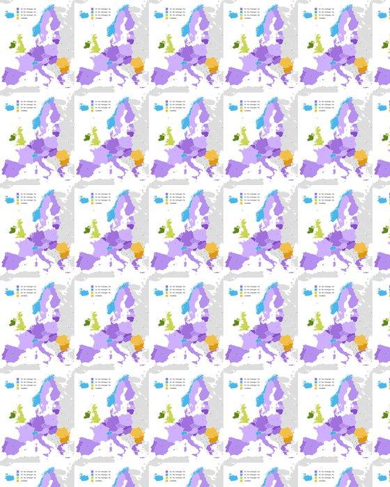 Vinylová Tapeta Hranice schengenského prostoru, v Evropě - Témata