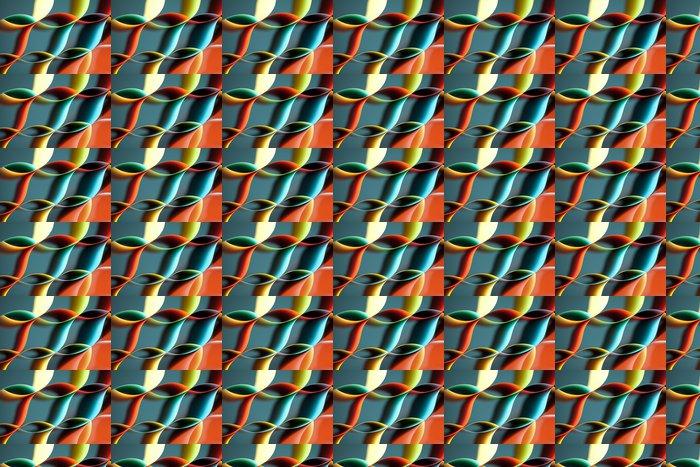 Vinylová Tapeta Zakřivený, barevné listy papíru se zrcadlem odlesky - Prvky podnikání