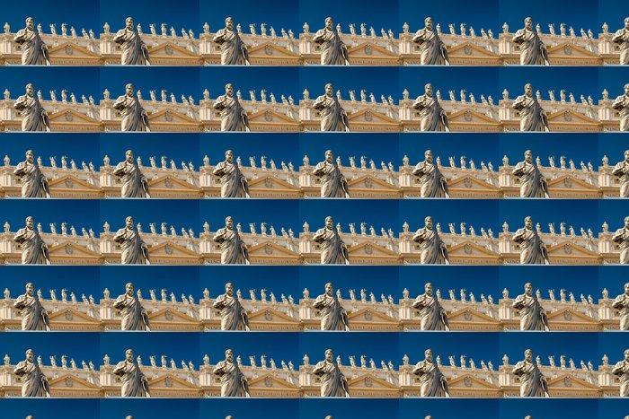 Vinylová Tapeta Socha apoštola v přední části baziliky svatého Petra, Vatikán - Památky