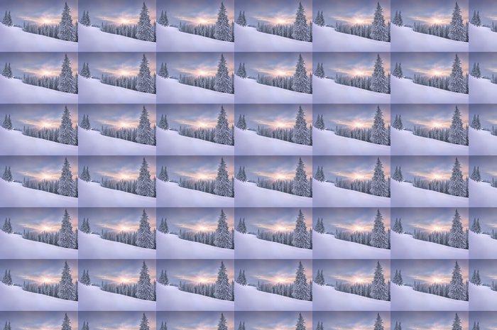 Vinylová Tapeta Krásná zimní krajina v horách. Západ slunce - Styly