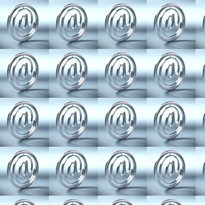 Vinylová Tapeta Na symbol, Arobase, symbole e-mail fond bleu - Sítě a internet